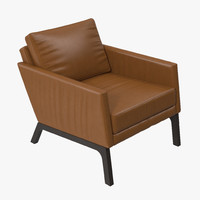 boconcept monte leather chair 3d model