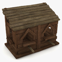 3d house birdhouse bird model