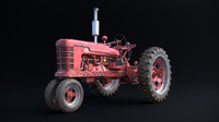 3d model old tractor dirty