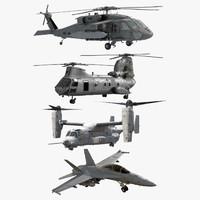 3d model navy air force aircrafts