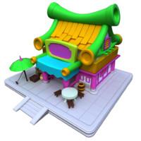 cartoon house hd version 3d c4d