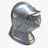 helmet helm burgonet 3d model