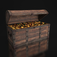 old chest treasures 3d model