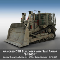 3d armored d9r bulldozer - model