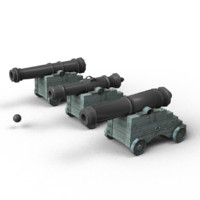 naval cannons 3ds