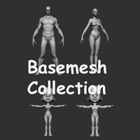 basemesh cartoon boy 3d model