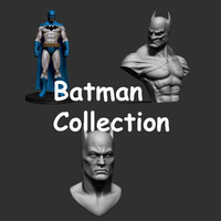 3d batman ztl stl model