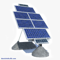 solar panel farm 3d model