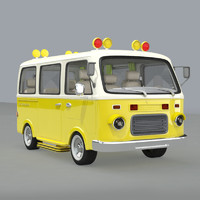 3d cartoon school bus