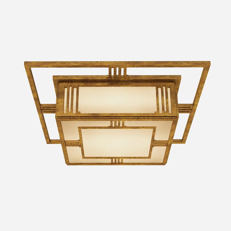 Visual Comfort & co 2014 Tob4220gi square brass bronze art deco chandelier modern contemporary0001.jpg
