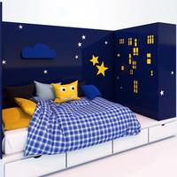 3d bed-podium linen cabinet