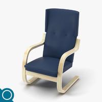 3d max alvar aalto 401 chair