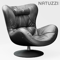 3d model chair armchair natuzzi