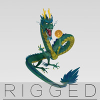 Chinese Dragon rigged