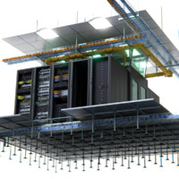 fully customizable data center 3d model