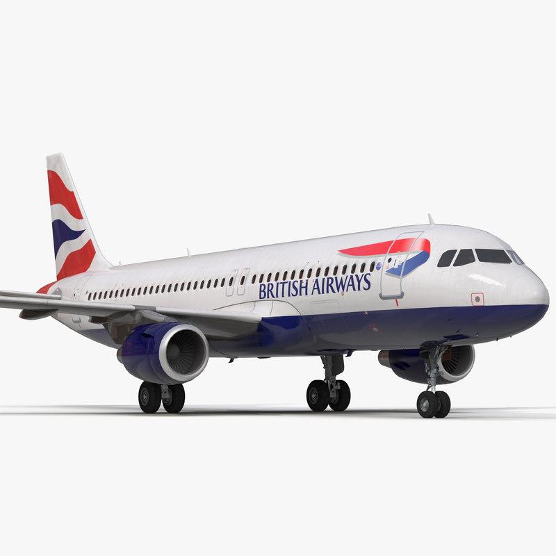 Airbus A320 British Airways 3d model 01.jpg