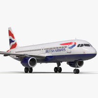 airbus a320 british airways 3d max