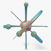 atom 3 3d model