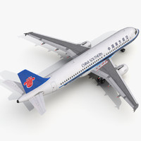 airbus a320 china southern 3d c4d