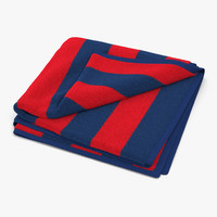 3d beach towel 2 red