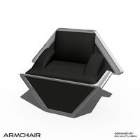 3d model andromeda armchair 3