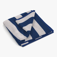 beach towel 2 white 3d max