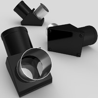 telescope erecting prism eyepiece 3d 3ds