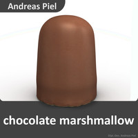 3d chocolate marshmallow