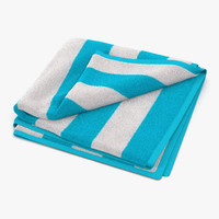 3d model beach towel 2