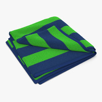 3d beach towel 2 green