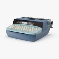 corona automatic typewriter 3d max