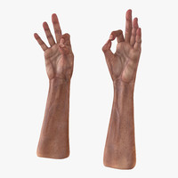 old man hands pose 3d model