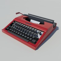 typewriter type writer 3d model