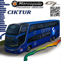 3d model marcopolo bus ciktur