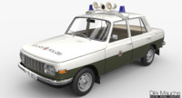 3d model wartburg 353 volkspolizei
