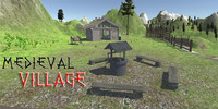 3d medieval village houses model