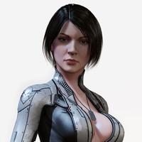 sci fi girl 3d max