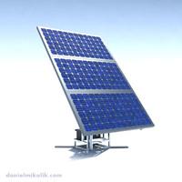 riged solar panel 3d model