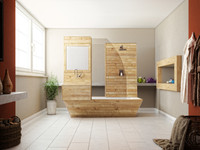 3d wooden bathtup bathroom