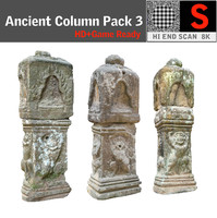 3d model ancient column pack 3