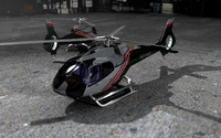 3d model helicopter n916mu animation