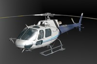 3d commercial bell 206l animation
