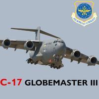 3d model boeing c-17 globemaster iii