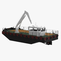 multicat workboat 3d 3ds