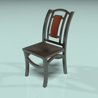 3d wood chair