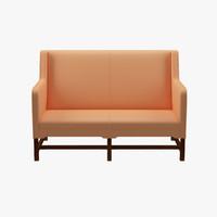 3d kaare klint sofa sides model