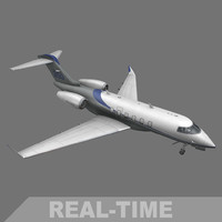 3d real-time bombardier challenger 350