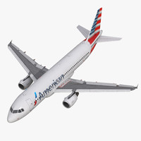 airbus a320 american airlines 3d max