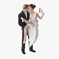 3d model bride groom miniatures 01