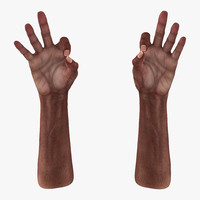 old african man hands 3d 3ds